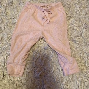 Gap kids baby girls joggers- pink size 6- 12 month